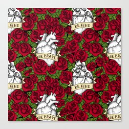 Heart and Roses Canvas Print
