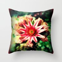 succulent Throw Pillows featuring Succulent by Eve Penman
