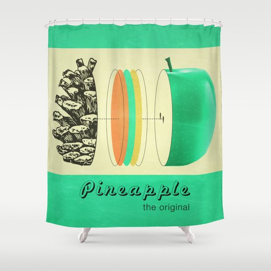 pineapple, the original Shower Curtain
