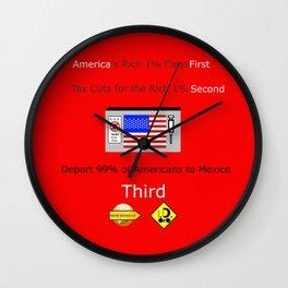 America FIrst Wall Clock
