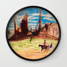 Southwest Native Americans Wall Clock