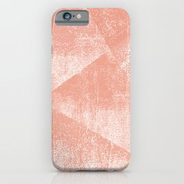 Coral and White Geometric Ink Texture iPhone Case
