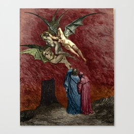 Dante and the Erinyes Canvas Print