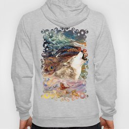 The spirit Wolf Abstract Hoody