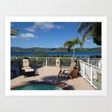 Pool with a view, St. John, USVI Art Print