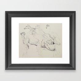 Gator & Giraffe Framed Art Print