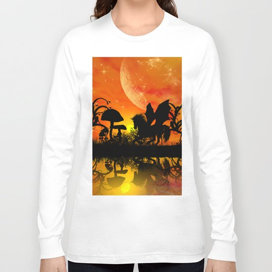 Beautiful unicorn silhouette Long Sleeve T-shirt
