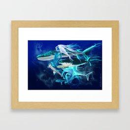 Ghost Among the Sharks Framed Art Print