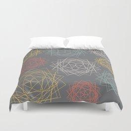 Dark Pastel Origami Blooms Duvet Cover