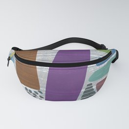Abstract print, mid century style vintage looking pattern Fanny Pack