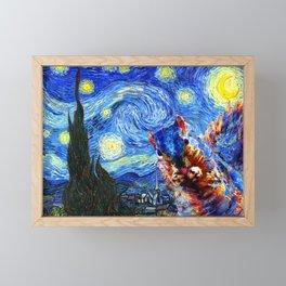 Starry Night Squirrel Photo Bomb Pop Art Framed Mini Art Print
