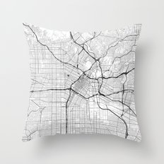 Los Angeles Map Gray Throw Pillow