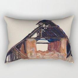 "Egon Schiele ""Old Gable"" Rectangular Pillow"