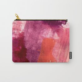 Blushing: a vibrant, minimal abstract in purple, pink, and red Carry-All Pouch