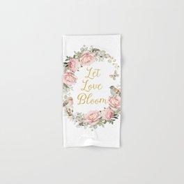Let love bloom Hand & Bath Towel