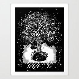 A tree in the dead of winter Art Print