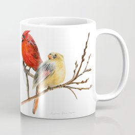 The Perfect Pair - Male and Female Cardinal by Teresa Thompson Coffee Mug