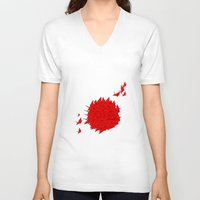 japan V-neck T-shirts featuring japan by Sophie Rousseau