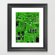 Cosmic Pause - pixel art Framed Art Print