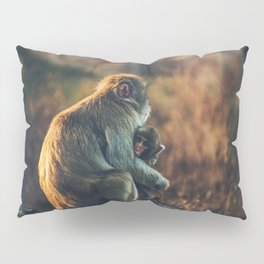 Macaque Motherly Love Pillow Sham