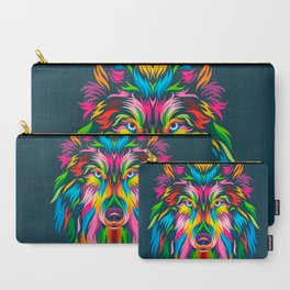 Full Color Wolf Carry-All Pouch