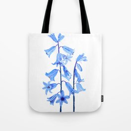 botanical bluebell flowers watercolor Tote Bag