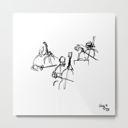 Cellos at the Symphony Metal Print