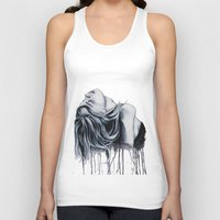 cara delevingne Tank Tops featuring Cara Delevingne by Asquared2Art