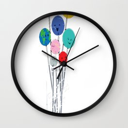 Planet Pops Wall Clock