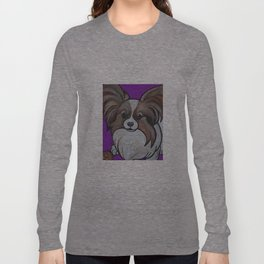 Murphy the papillon Long Sleeve T-shirt