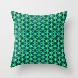 Bubble Pattern in Green Throw Pillow