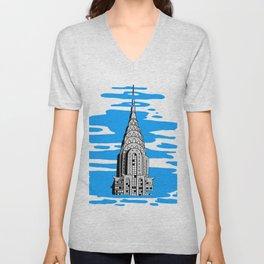 Shine like the top of the Chrysler Building! Unisex V-Neck