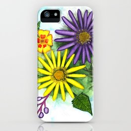 Aster Flowers iPhone Case