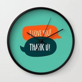 I love u... Wall Clock