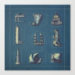 Blueprint for Architectural Growth Canvas Print