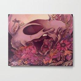 Autumn Skull Metal Print
