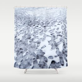 Footprints in the Melting Snow at Whistler Shower Curtain