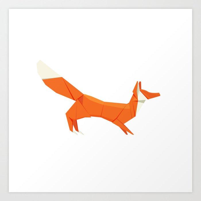 Origami Fox Art Print By Staskhabarov Society6