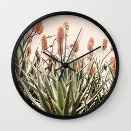 Cactus Blooms 2 Wall Clock