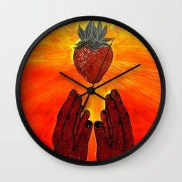 Divine Strawberry Wall Clock
