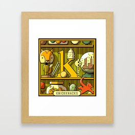 K is for Knickknacks Framed Art Print