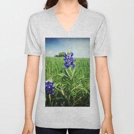 Texas Bluebonnet Flowers Unisex V-Neck