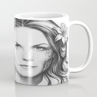 house md Mugs featuring Dr. Cameron-House MD-Jennifer Morrison-Portrait by Olechka