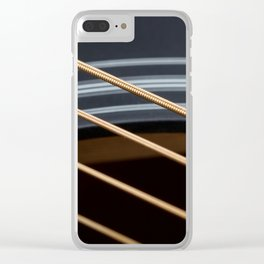 Guitar String Abstract 1 Clear iPhone Case