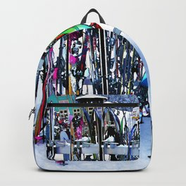 Ski Party - Skis and Poles Backpack
