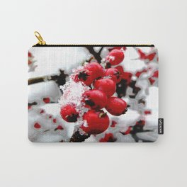 Bright Red Berries Carry-All Pouch
