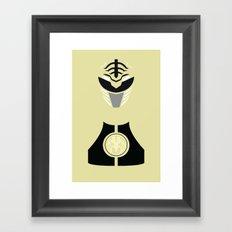 Power Rangers - White Ranger Minimalist Framed Art Print