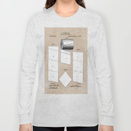 patent art Wheeler Toilet paper roll 1890 Long Sleeve T-shirt