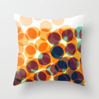 dots Throw Pillows featuring Dots by Yordanka Poleganova