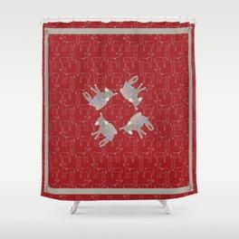 © Litte Burro Wild West Red Shower Curtain